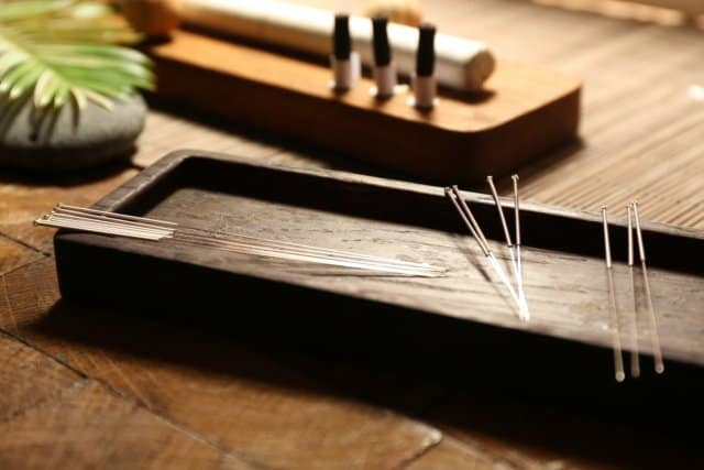 Calatma California acupuncture objects brown box needles