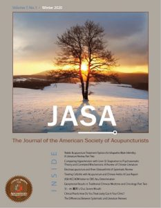 JASA Volume 7 Number 1 Cover